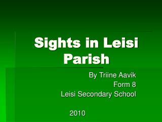 Sights in Leisi Parish