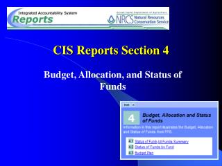 CIS Reports Section 4