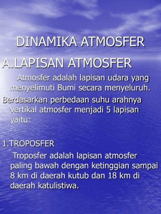 DINAMIKA ATMOSFER