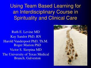 Using Team Based Learning for an Interdisciplinary Course in Spirituality and Clinical Care