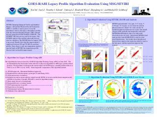 GOES-R/ABI Legacy Profile Algorithm Evaluation Using MSG/SEVIRI