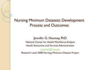 Nursing Minimum Datasets: Development Process and Outcomes