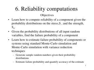 6. Reliability computations