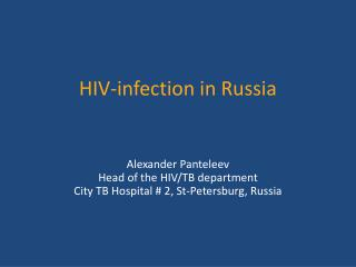 HIV-infection in Russia