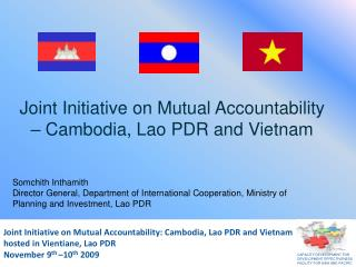 Joint Initiative on Mutual Accountability – Cambodia, Lao PDR and Vietnam