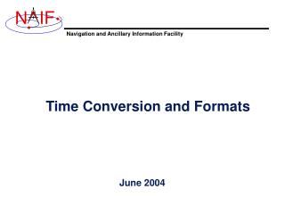 Time Conversion and Formats
