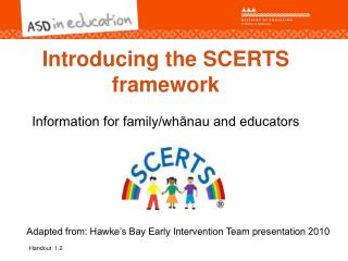 Introducing the SCERTS framework