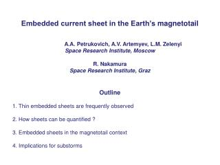 Embedded current sheet in the Earth�s  magnetotail