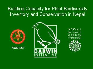 Building Capacity for Plant Biodiversity Inventory and Conservation in Nepal