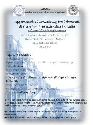 AIDEA Accademia Italiana di Economia Aziendale