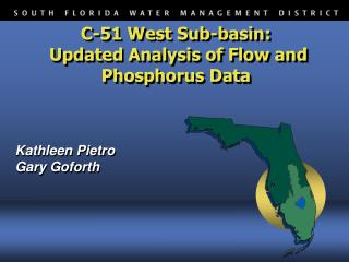 C-51 West Sub-basin:  Updated Analysis of Flow and Phosphorus Data