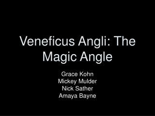 Veneficus Angli: The Magic Angle