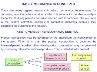 BASIC  MECHANISTIC CONCEPTS