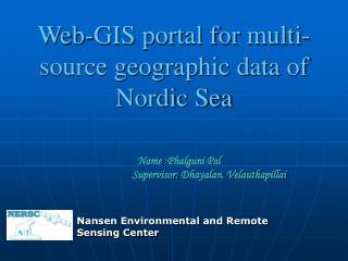 Web-GIS portal for multi-source geographic data of Nordic Sea