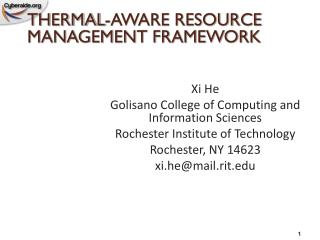 Xi He Golisano College of Computing and Information Sciences Rochester Institute of Technology