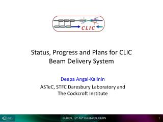 Status, Progress and Plans for CLIC Beam Delivery System