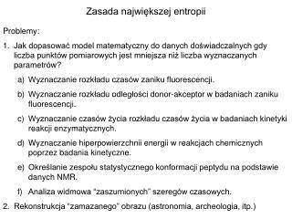 Zasada największej entropii