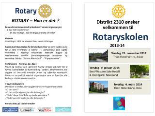 velkommen til  Rotaryskolen                        2013-14