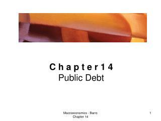 C h a p t e r 1 4 Public Debt