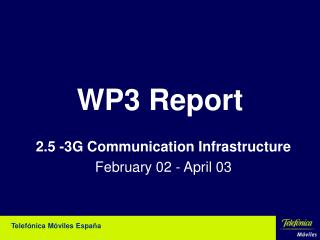 WP3 Report