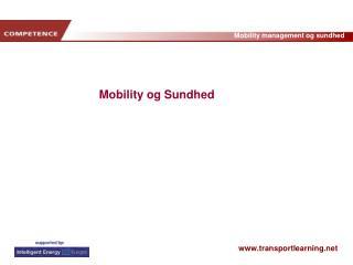 Mobility og Sundhed