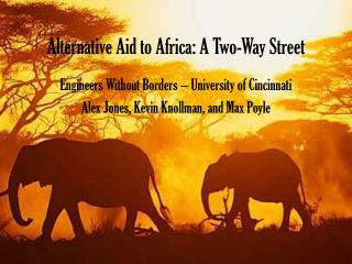 Alternative Aid to Africa: A Two-Way Street