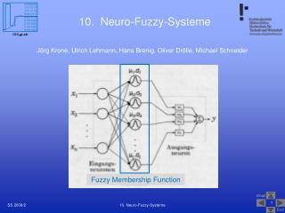 10.  Neuro-Fuzzy-Systeme