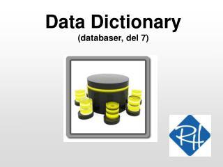 Data Dictionary  (databaser, del 7)
