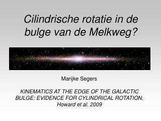 Cilindrische rotatie in de bulge van de Melkweg?