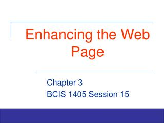 Enhancing the Web Page