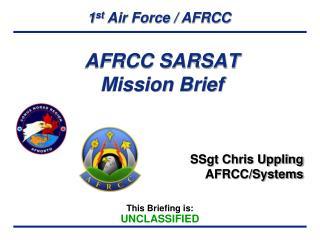 AFRCC SARSAT Mission Brief