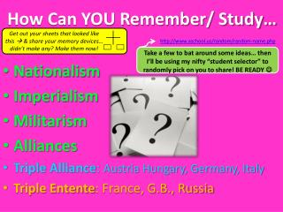 How Can YOU Remember/ Study…