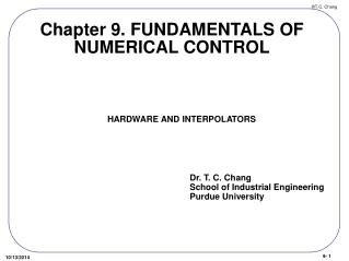 Chapter 9. FUNDAMENTALS OF NUMERICAL CONTROL