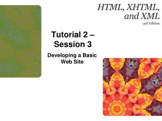 Tutorial  2 – Session 3