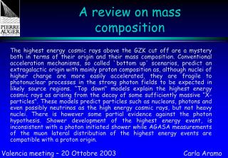 A review on mass composition
