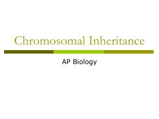 Chromosomal Inheritance