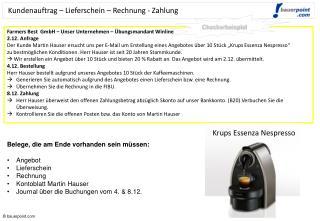 Farmers Best   GmbH � Unser  Unternehmen � �bungsmandant  Winline 2.12 .  Anfrage