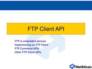 FTP Client API