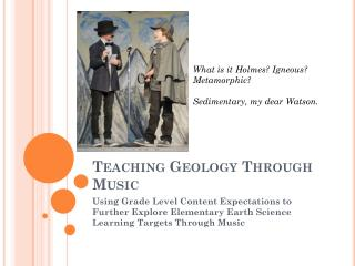 Teaching Geology Through Music