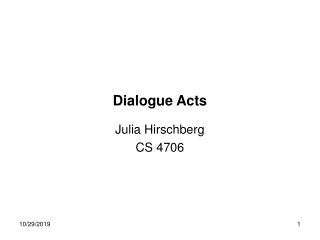 Dialog act tagging using Memory-Based Learning