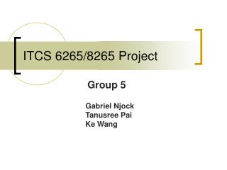 ITCS 6265/8265 Project