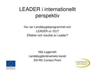 LEADER i internationellt perspektiv