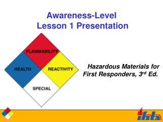 Awareness-Level   Lesson 1 Presentation