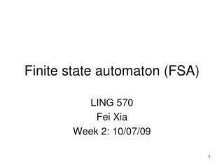 Finite state automaton (FSA)