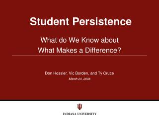 Student Persistence