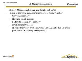 OS Memory Management
