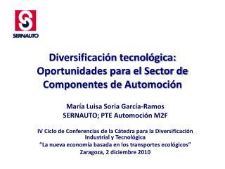 Diversificación tecnológica: Oportunidades para el Sector de Componentes de Automoción