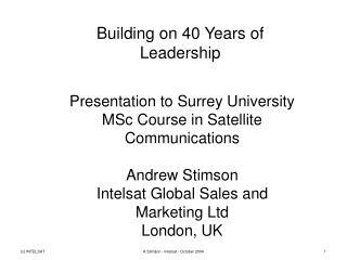 Building on 40 Years of Leadership