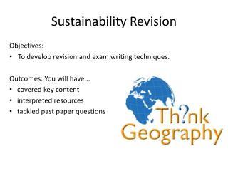 Sustainability Revision