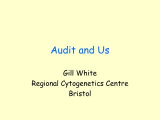 Audit and Us